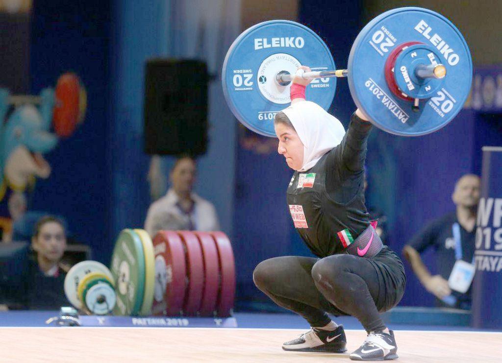 حضور نخستین وزنه بردار زن ایرانی در مسابقات جهانی